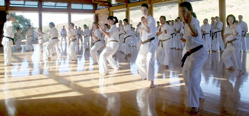 Ohshima Sensei Leading Black Belt Practice
